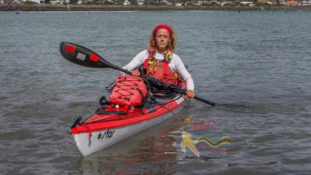 HVR Sports   kayaking NZ coastline HVR sports Woman kayaking NZ coastline says getting outside is the best medicine in the world